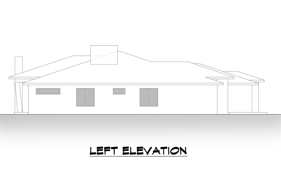 Left Elevation image of Lucca House Plan