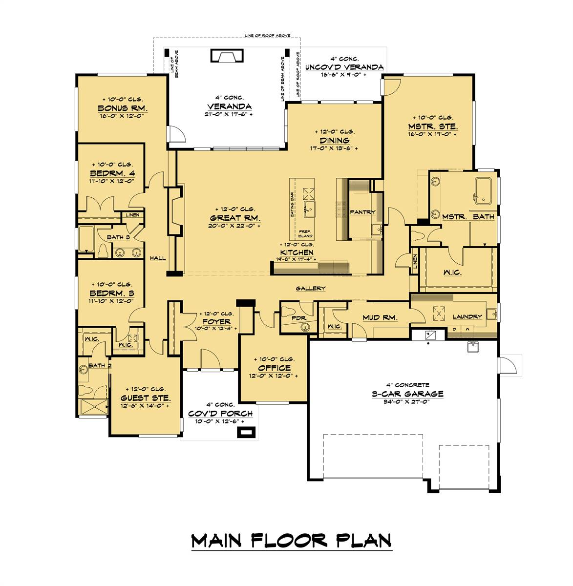 1st Floor image of Lucca House Plan