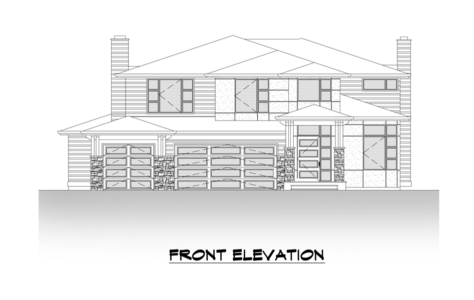 Front Elevation image of The Astoria House Plan