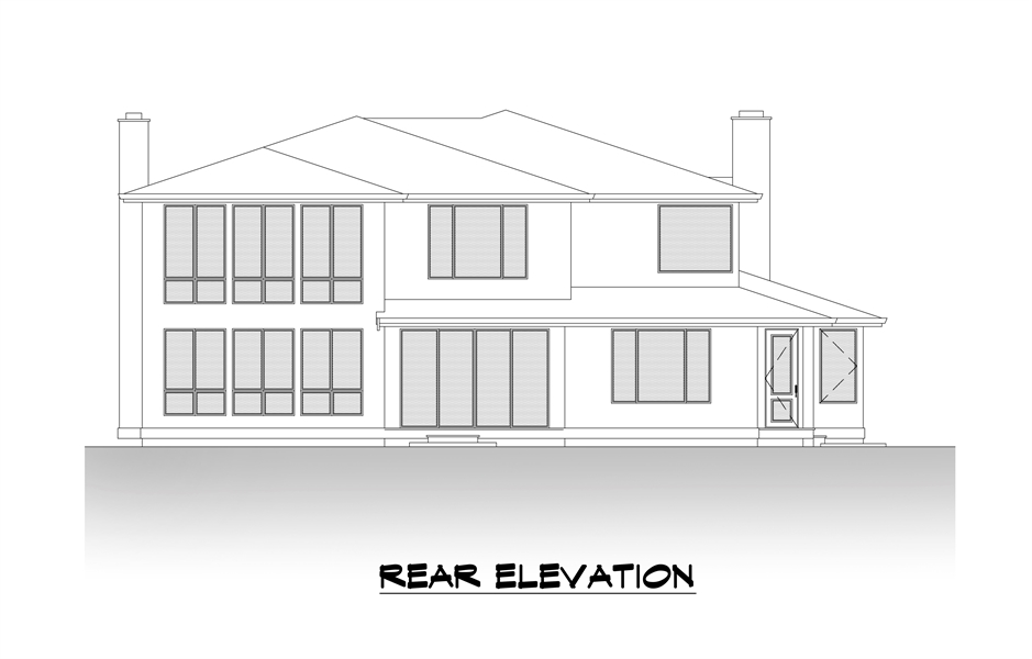 Rear Elevation image of The Astoria House Plan