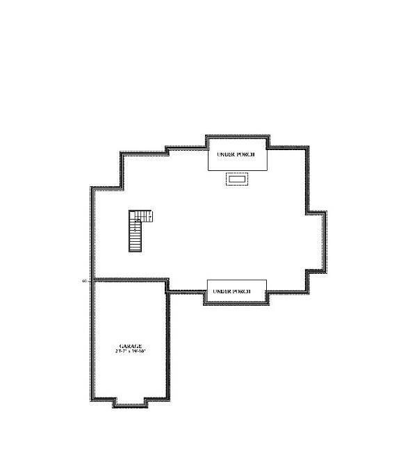 Unfinished Basement by DFD House Plans