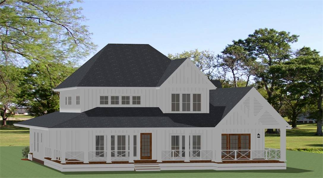 Rear View image of Waverly - B House Plan