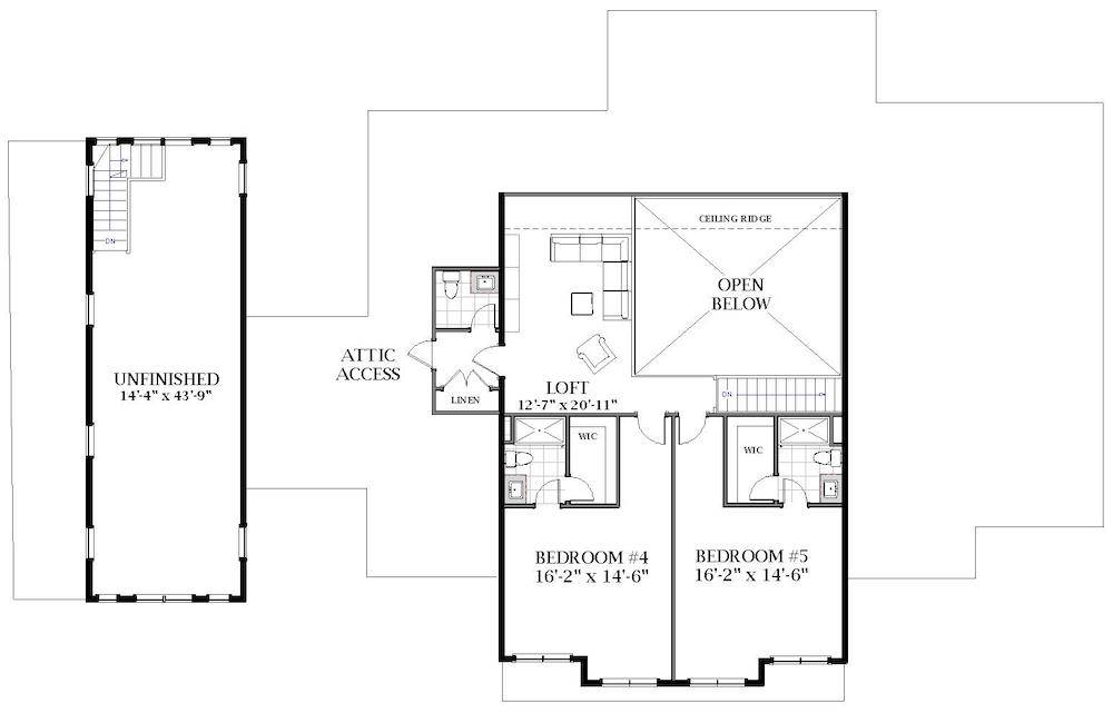 2nd Floor image of White Oak House Plan