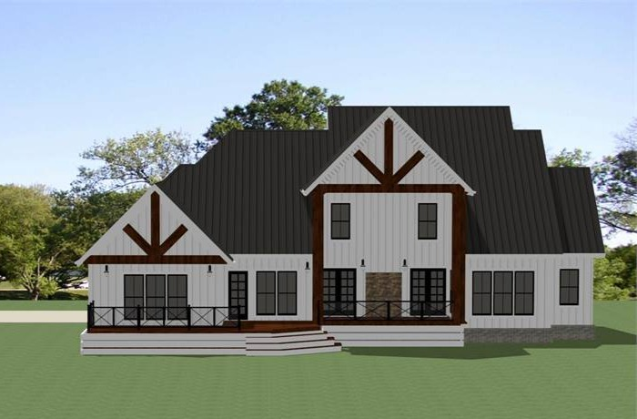 Rear View image of Grove Park House Plan
