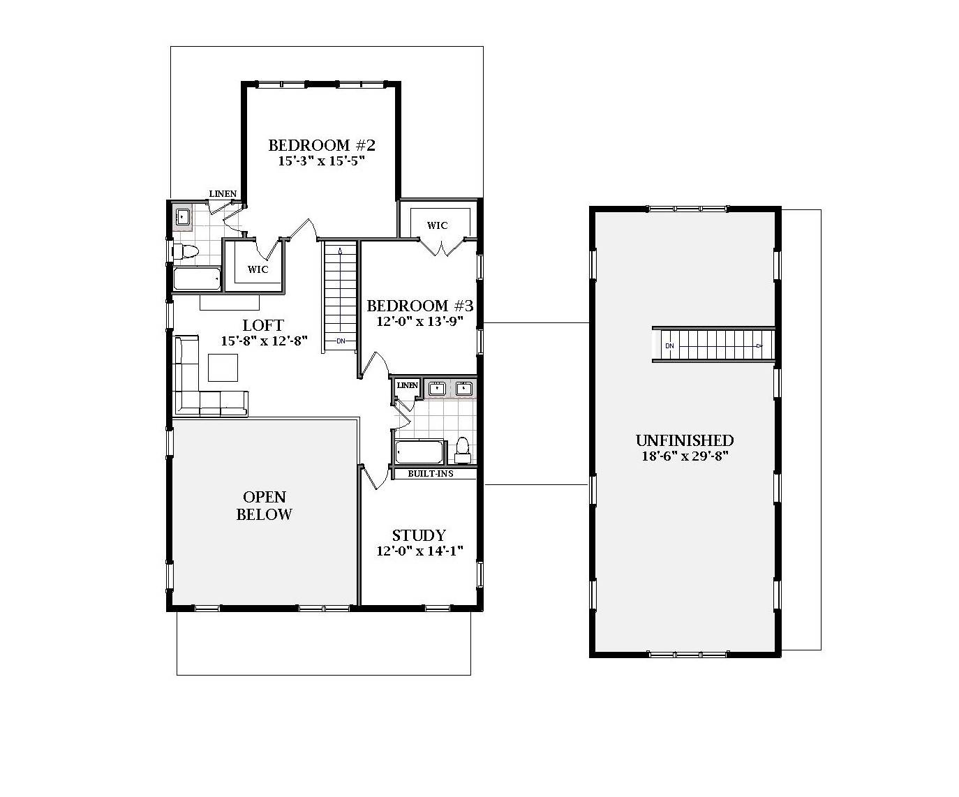 2nd Floor image of Chapel Hill House Plan