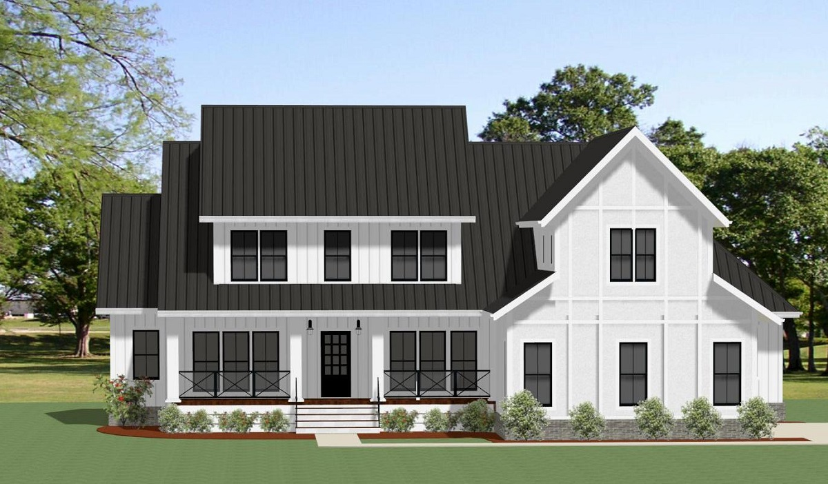 Front View image of Grove Park House Plan