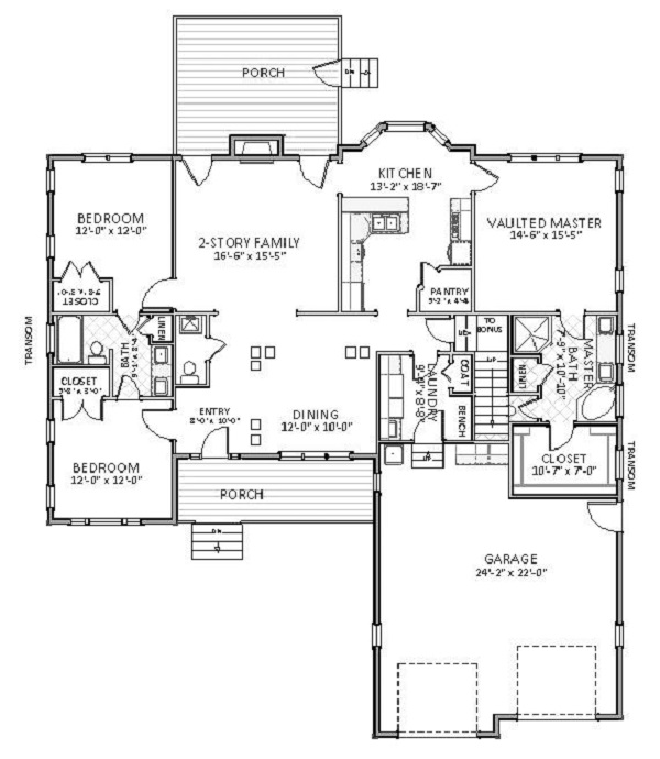 Cape Cod House Plan with 3 Bedrooms and 2.5 Baths - Plan 5504