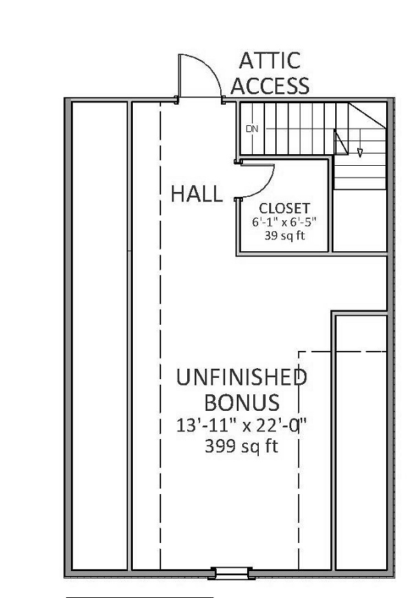 BONUS ROOM by DFD House Plans