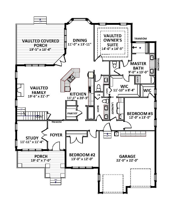 Cottage House Plan with 4 Bedrooms and 3.5 Baths - Plan 9757