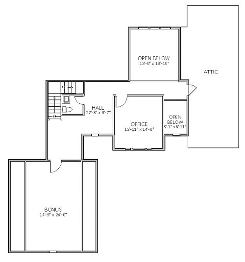 Craftsman house plan with 3 bedrooms and 2 5 baths plan 5519 for Dfd house plans 1897