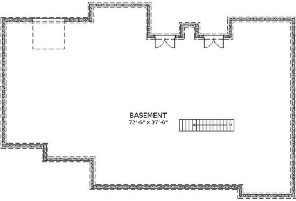 BASEMENT PLAN by DFD House Plans