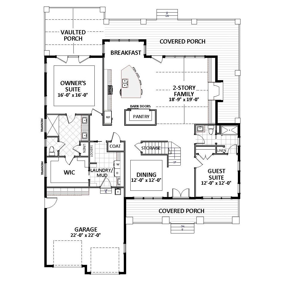 First Floor image of Waverly - B House Plan