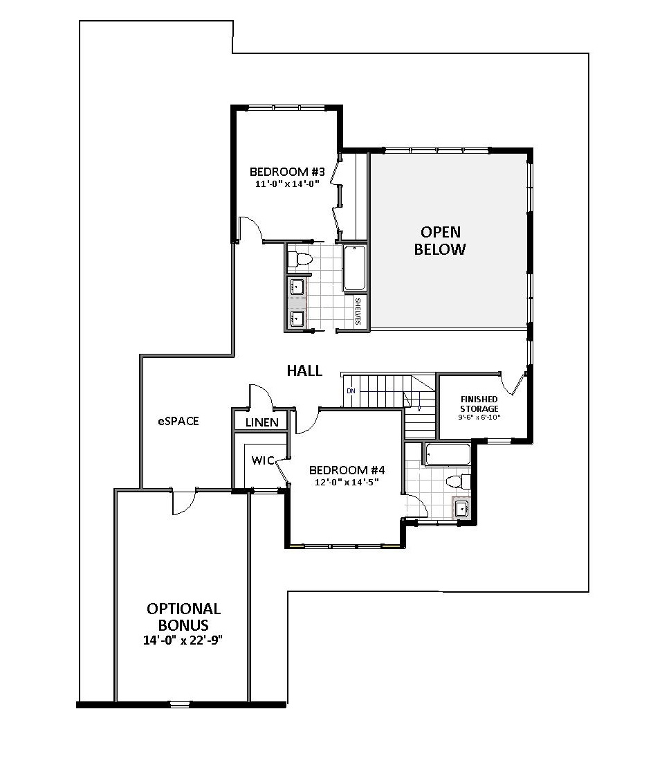 2nd Floor image of Waverly - B House Plan