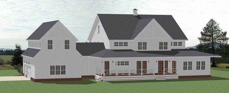 Country House Plan with 5 Bedrooms and 4.5 Baths - Plan 7071