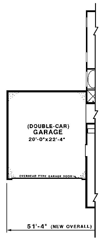 Two Car Alternate by DFD House Plans
