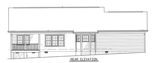 rear elevation image of Plan 1573