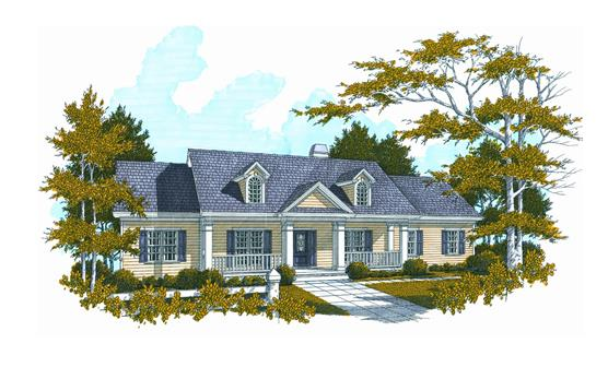 Cape cod house plan with 3 bedrooms and 2 5 baths plan 3292 for 5 bedroom cape cod house plans