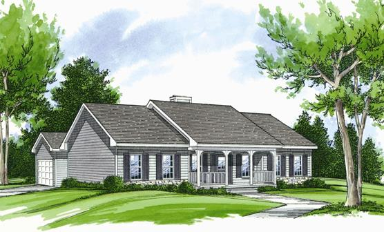 Front Rendering by DFD House Plans