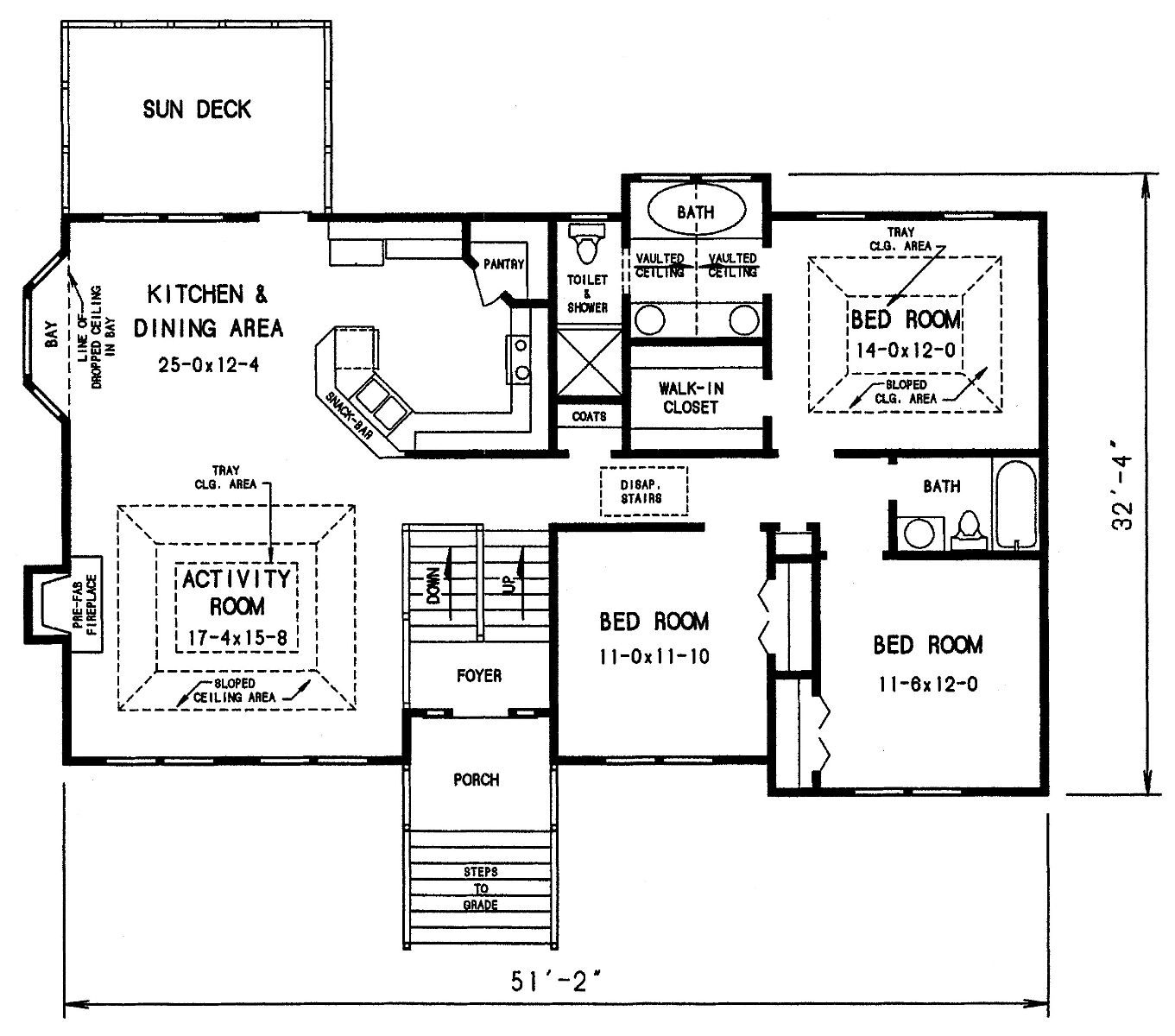 Cottage House Plan with 3 Bedrooms and 2.5 Baths - Plan 3303