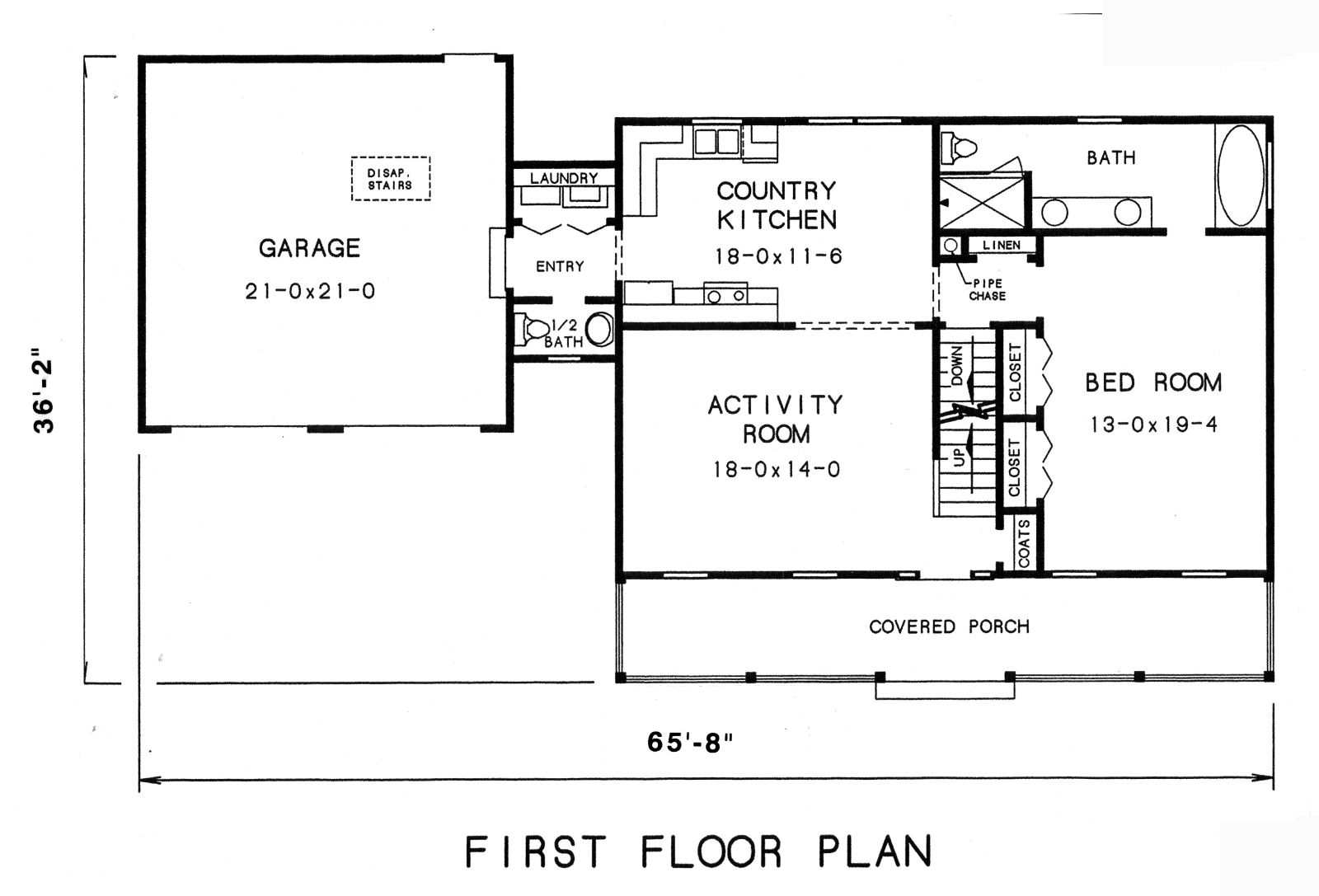 Cape cod house plan with 3 bedrooms and 2 5 baths plan 3569 for Floor plans for my house
