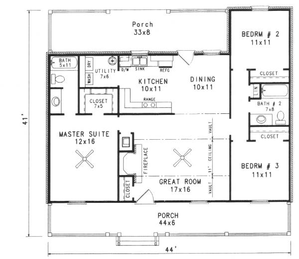 Farm House House Plan With 3 Bedrooms And 2 5 Baths Plan