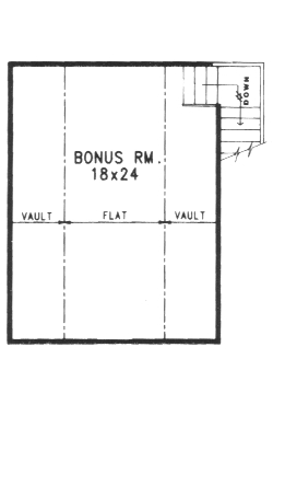 Second Floor Bonus Room by DFD House Plans