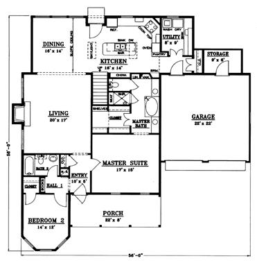 Slab Ranch Floor Plans. Slab. Home Plan And House Design Ideas