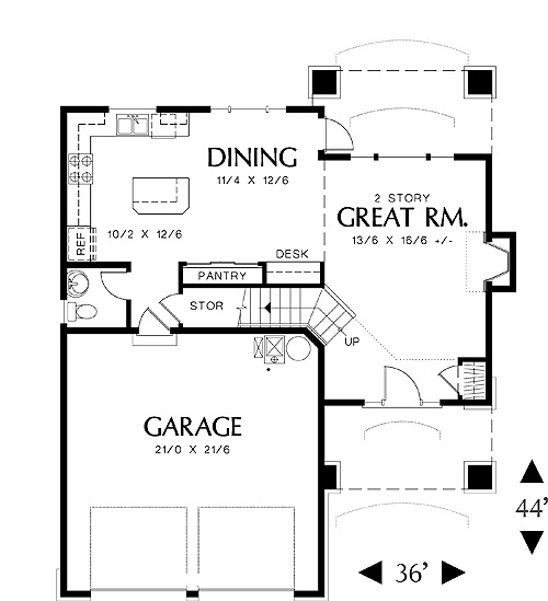 First Floor Plan image of Dundee House Plan