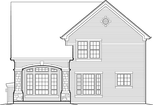Rear Elevation image of Dundee House Plan