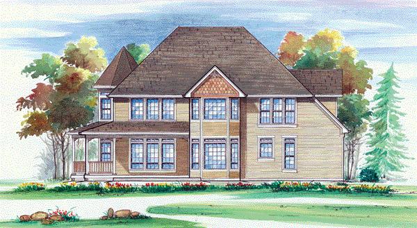 Rear Elevation image of Merrimac House Plan