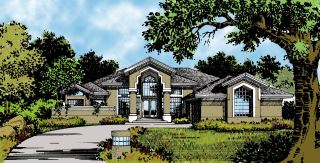 Concrete House Blueprints by DFD House Plans