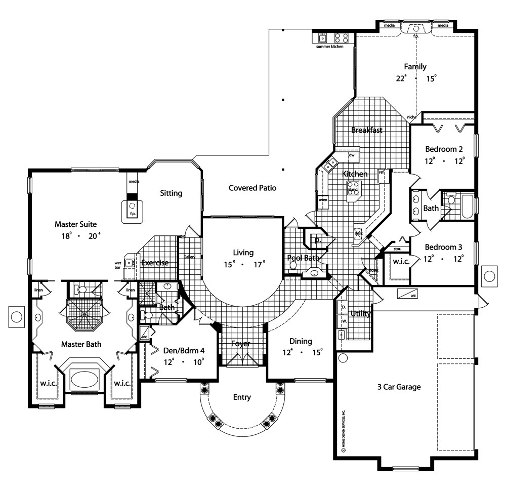 Contemporary house plan with 4 bedrooms and 35 baths plan 4136 first floor plan malvernweather