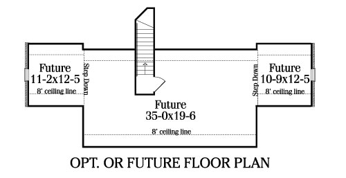 Optional or Future Floor Plan by DFD House Plans